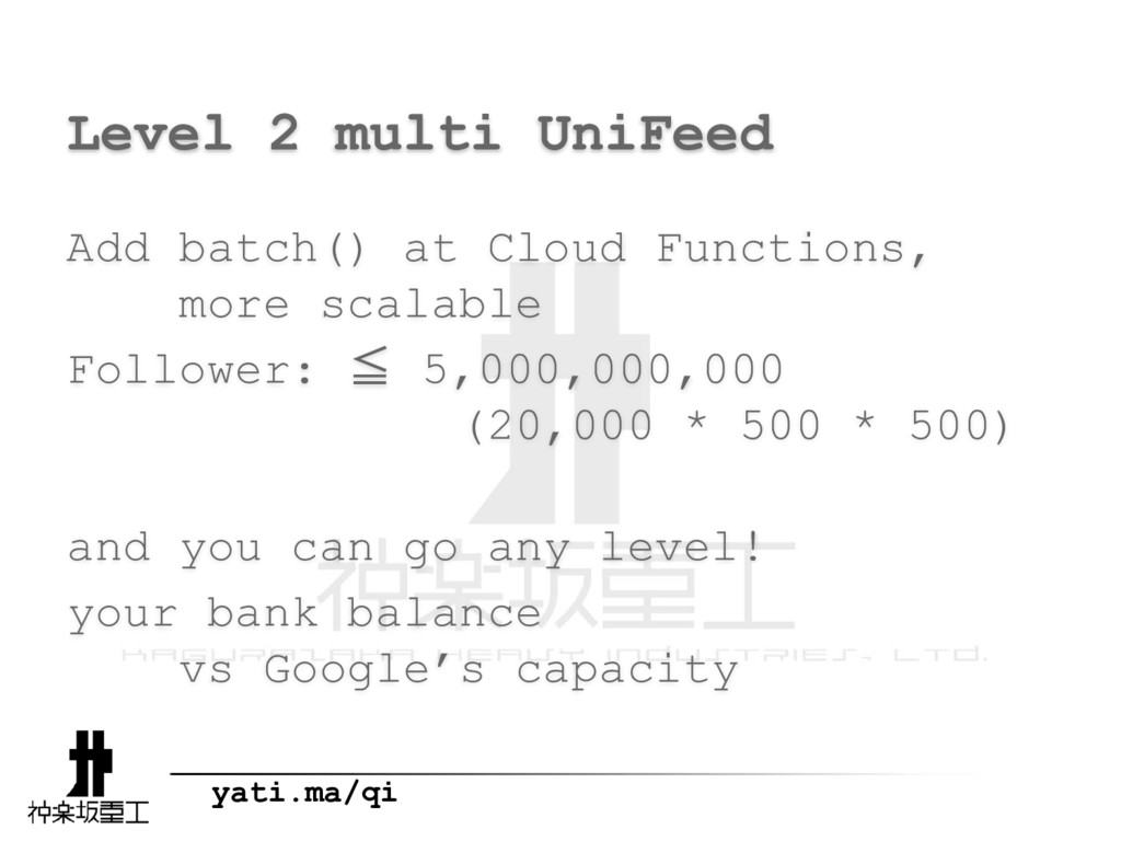 yati.ma/qi Level 2 multi UniFeed Add batch() at...