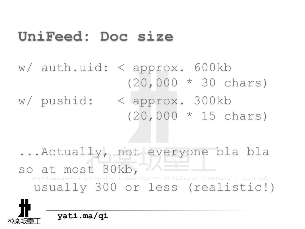 yati.ma/qi UniFeed: Doc size w/ auth.uid: < app...