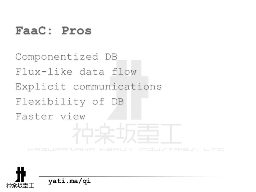yati.ma/qi FaaC: Pros Componentized DB Flux-lik...