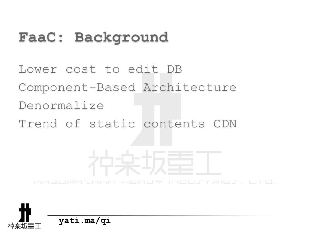 yati.ma/qi FaaC: Background Lower cost to edit ...