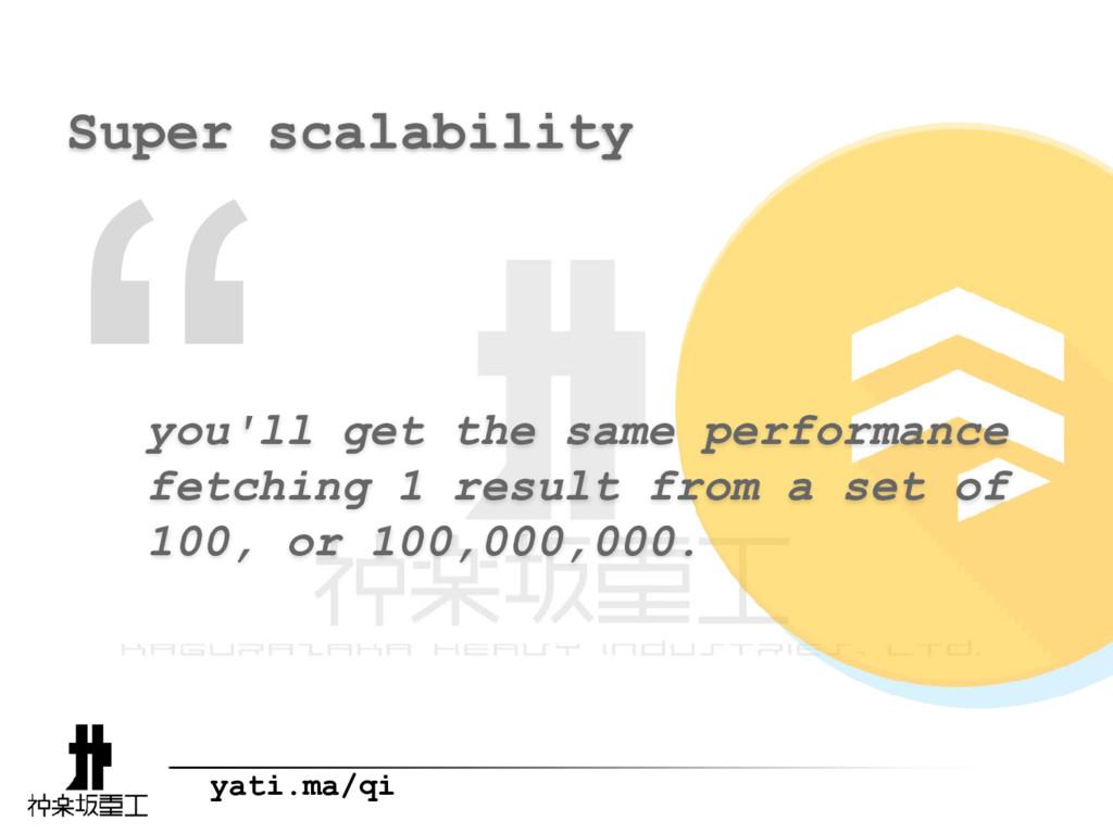 """ yati.ma/qi Super scalability you'll get the s..."