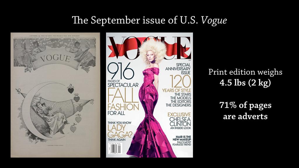 e September issue of U.S. Vogue Print edition ...