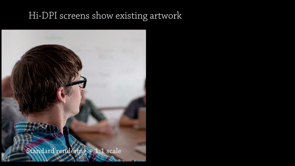 Standard rendering @ 1:1 scale Hi-DPI screens s...