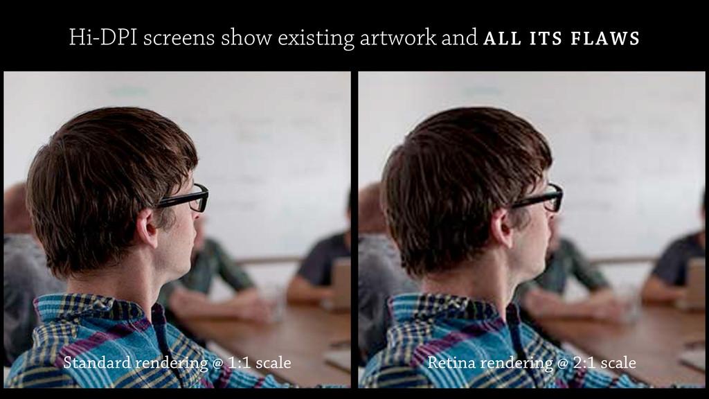 Retina rendering @ 2:1 scale Standard rendering...