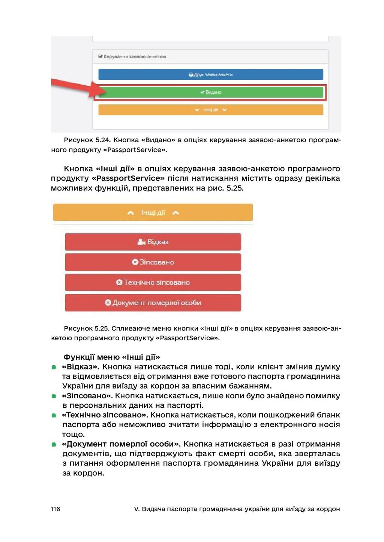 116 V. Видача паспорта громадянина україни для ...
