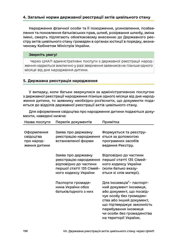 198 VII. Державна реєстрація актів цивільного с...