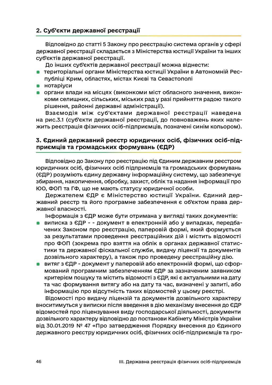 46 III. Державна реєстрація фізичних осіб-підпр...
