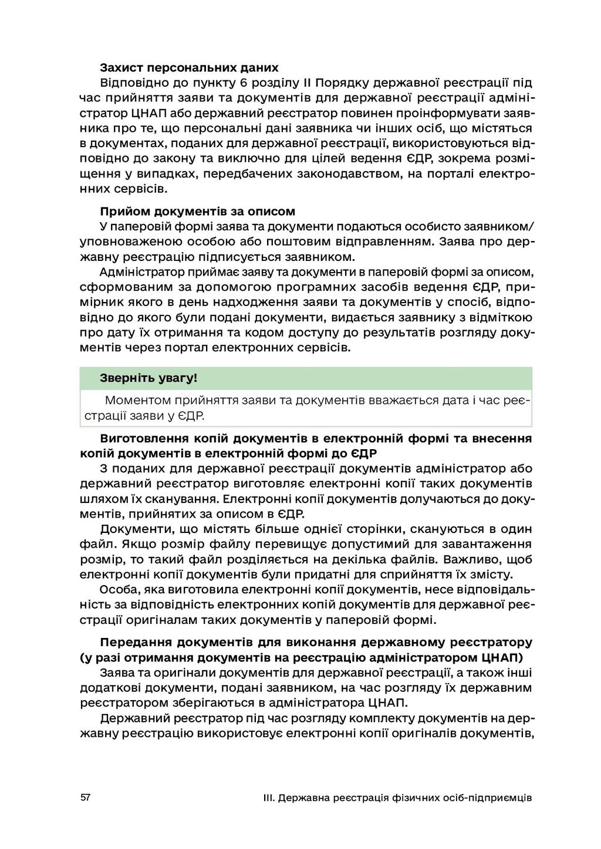 57 III. Державна реєстрація фізичних осіб-підпр...