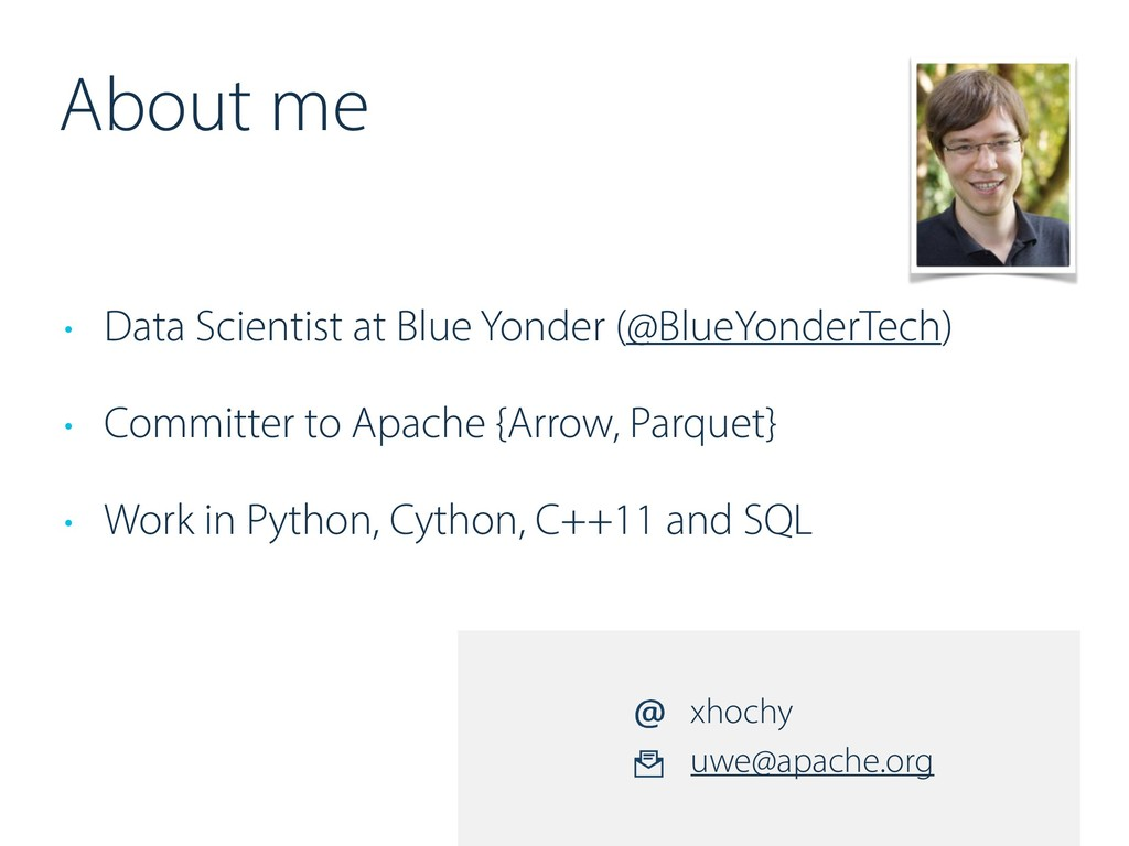 About me • Data Scientist at Blue Yonder (@Blue...