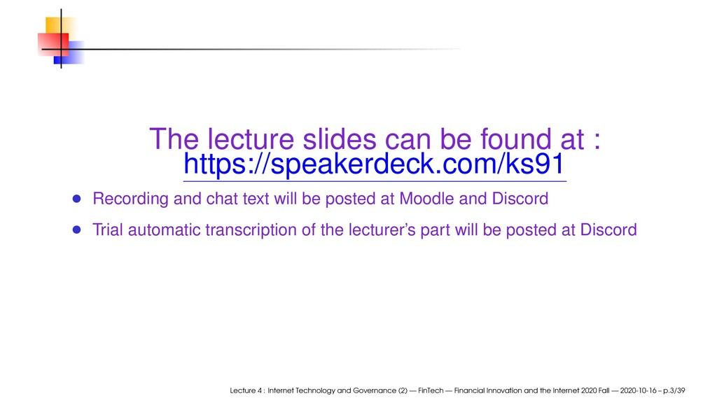 The lecture slides can be found at : https://sp...
