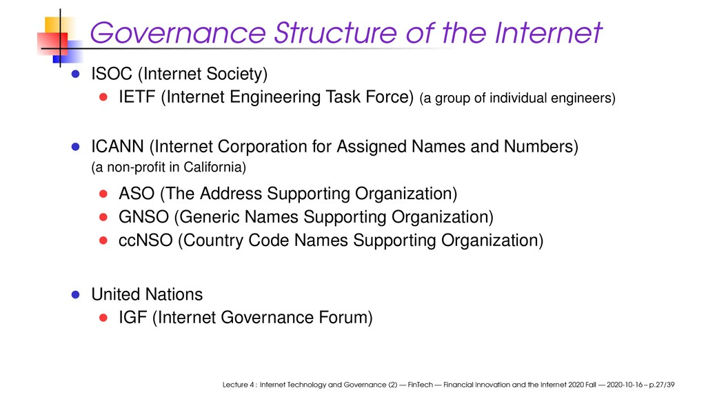 Governance Structure of the Internet ISOC (Inte...