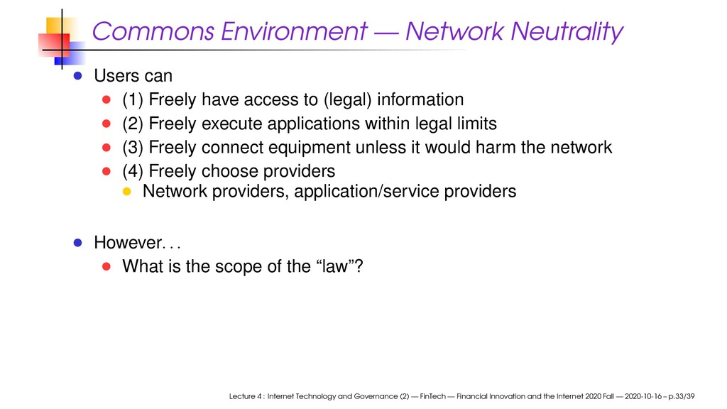 Commons Environment — Network Neutrality Users ...