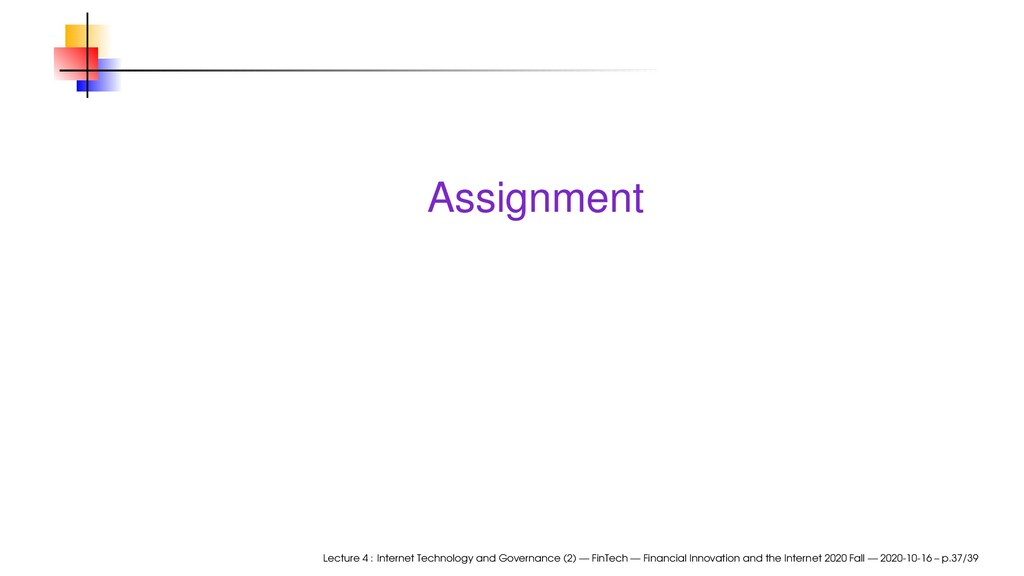 Assignment Lecture 4 : Internet Technology and ...