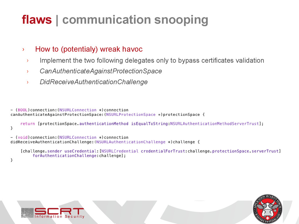 flaws   communication snooping › How to (potent...