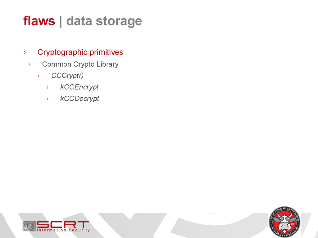 flaws   data storage › Cryptographic primitives...