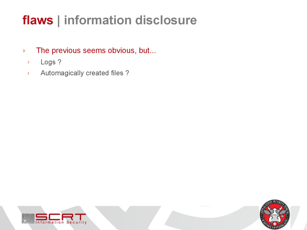 flaws   information disclosure › The previous s...