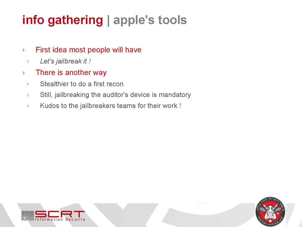 info gathering   apple's tools › First idea mos...