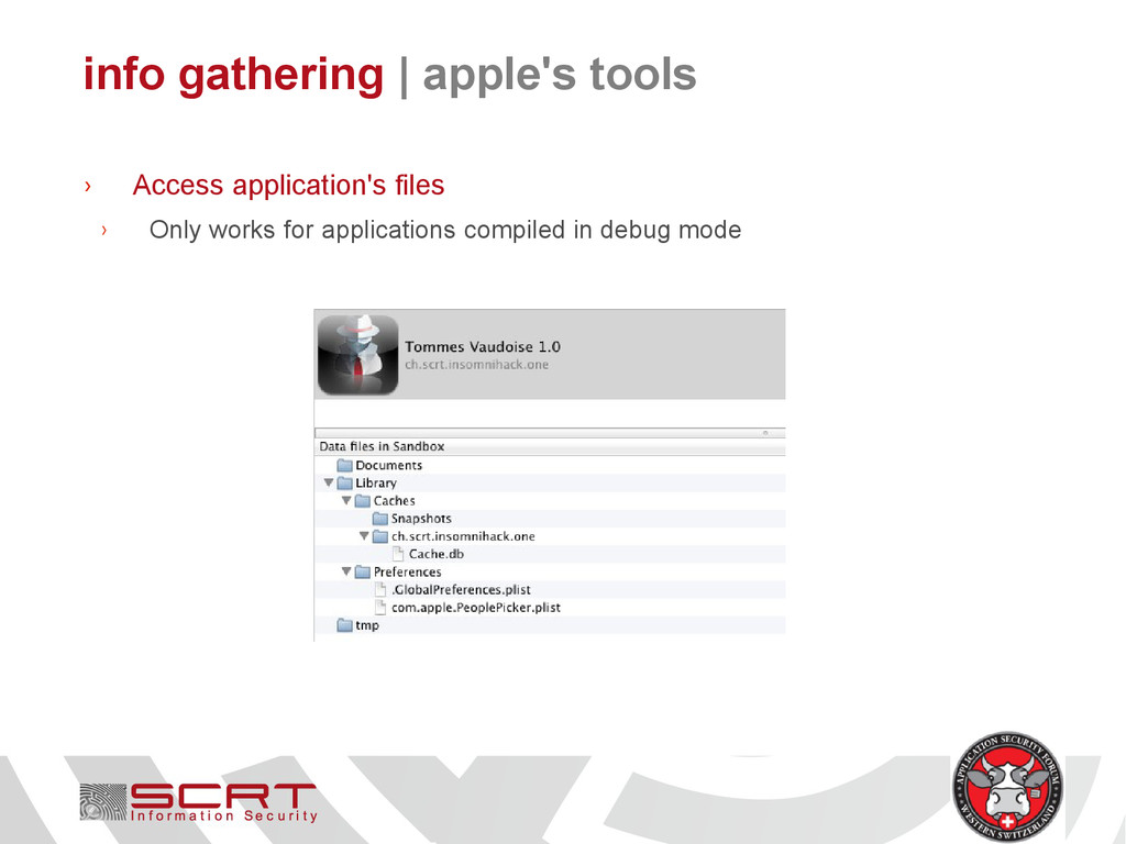info gathering   apple's tools › Access applica...
