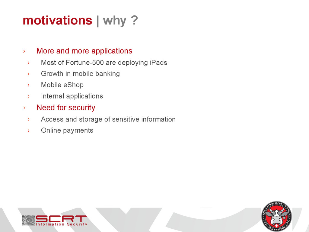 motivations   why ? › More and more application...