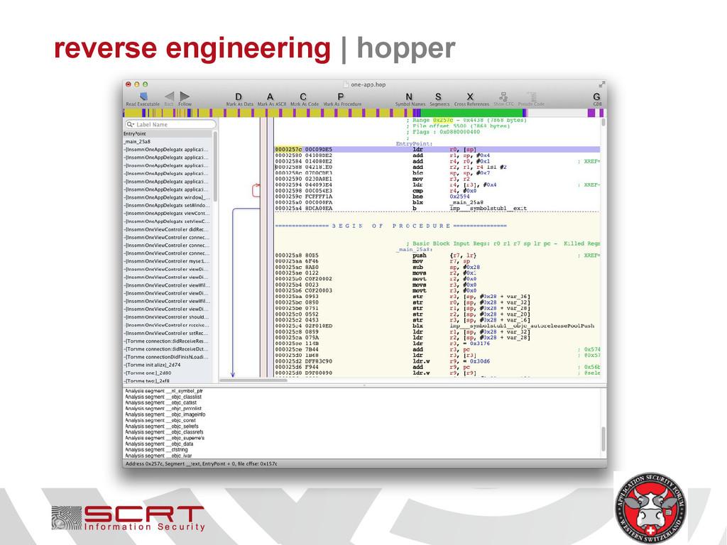 reverse engineering   hopper