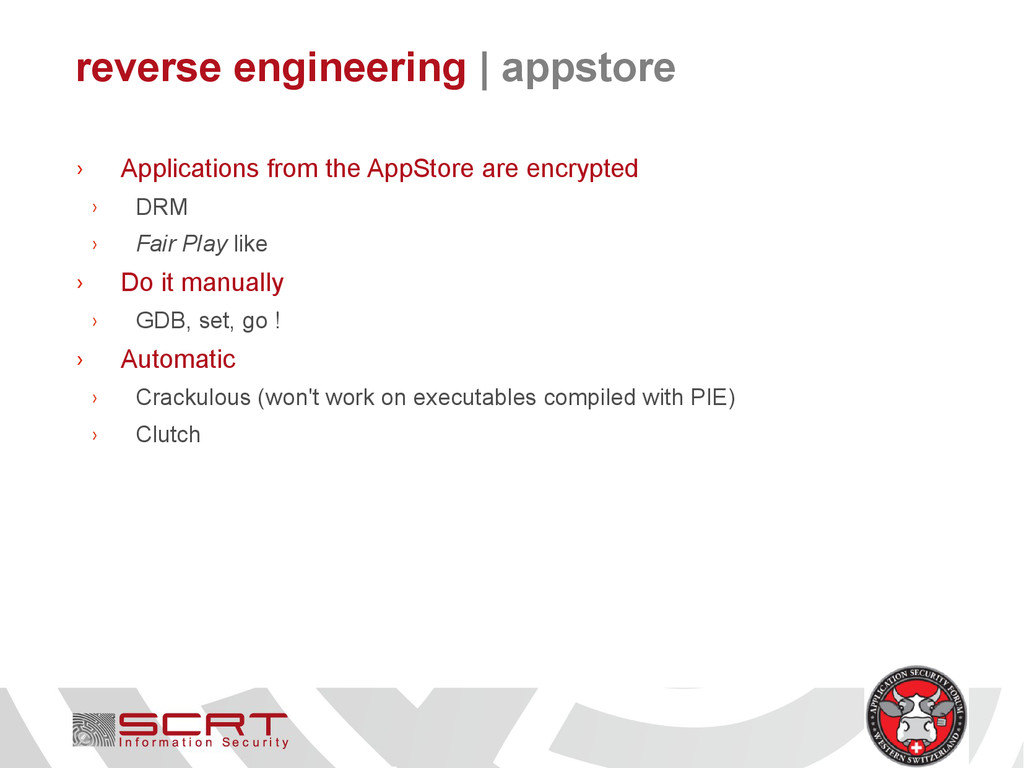reverse engineering   appstore › Applications f...