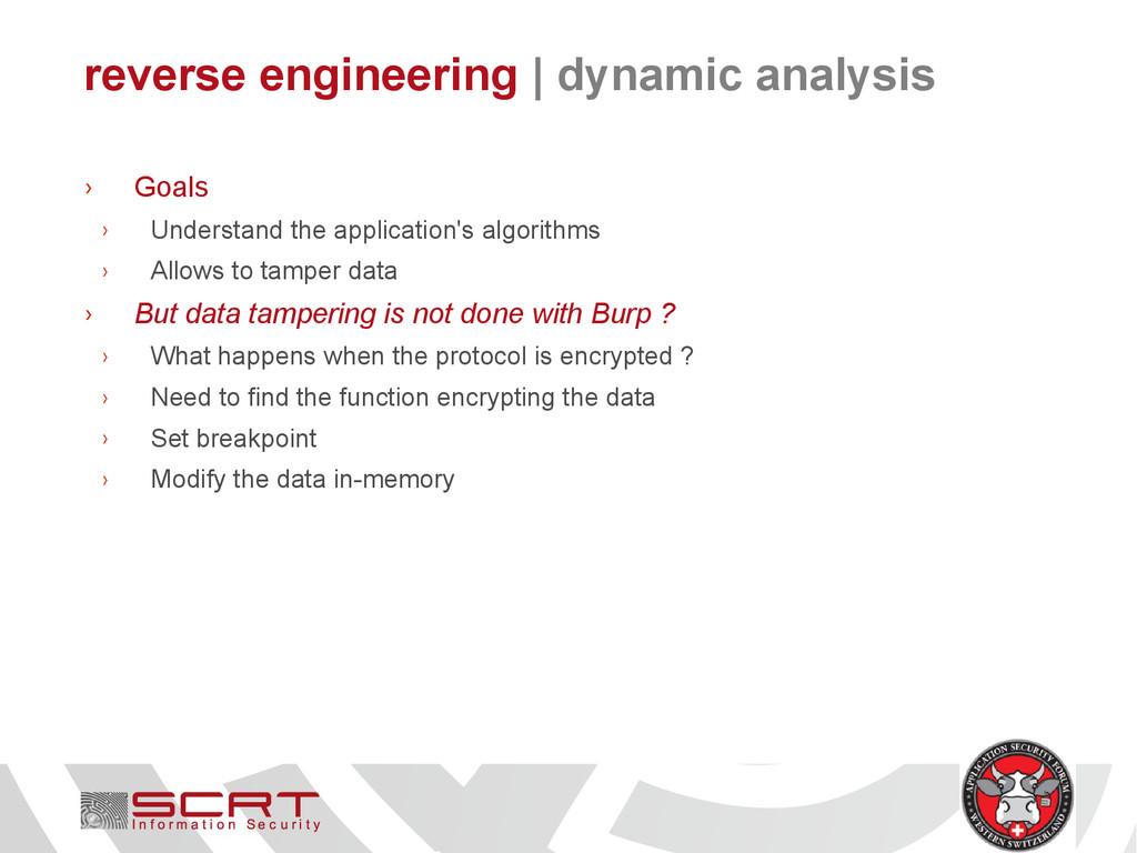 reverse engineering   dynamic analysis › Goals ...