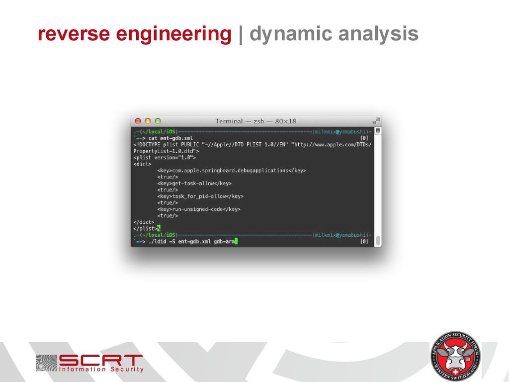 reverse engineering   dynamic analysis
