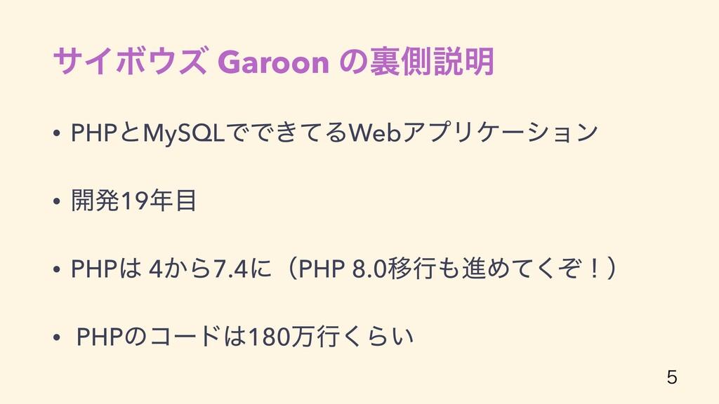 αΠϘζ Garoon ͷཪଆઆ໌ • PHPͱMySQLͰͰ͖ͯΔWebΞϓϦέʔγϣϯ ...