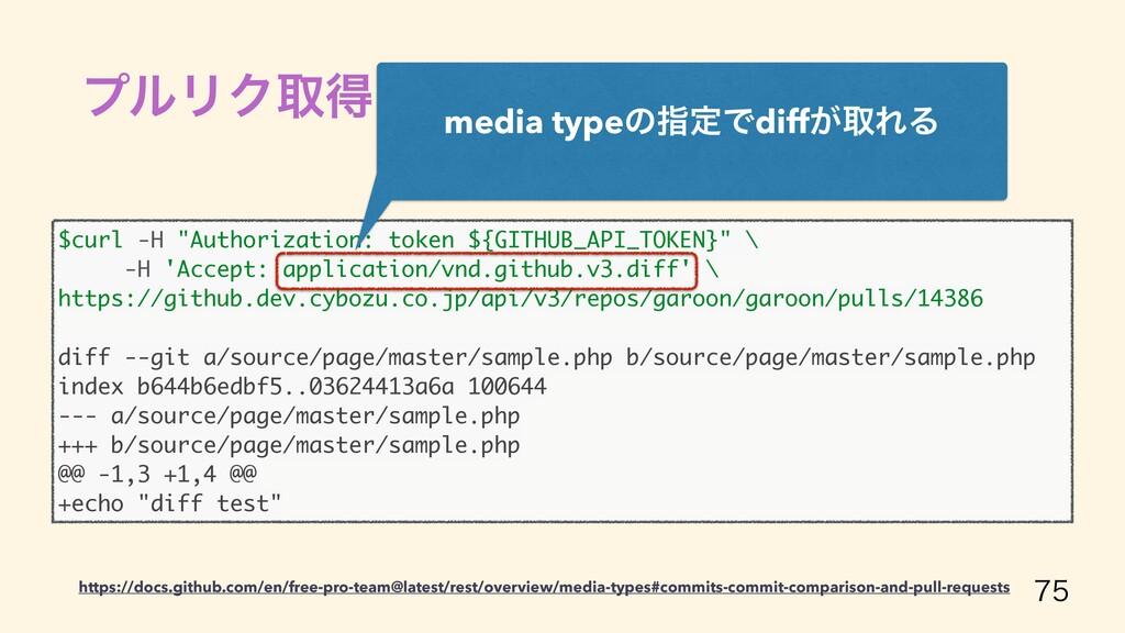 """ϓϧϦΫऔಘ GitHub API  $curl -H """"Authorization: t..."""