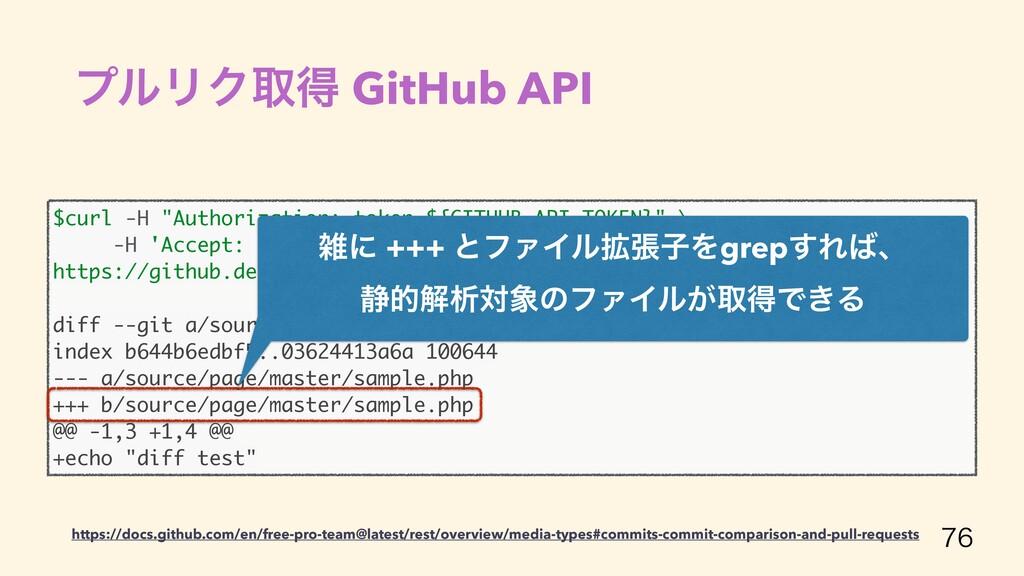 "$curl -H ""Authorization: token ${GITHUB_API_..."