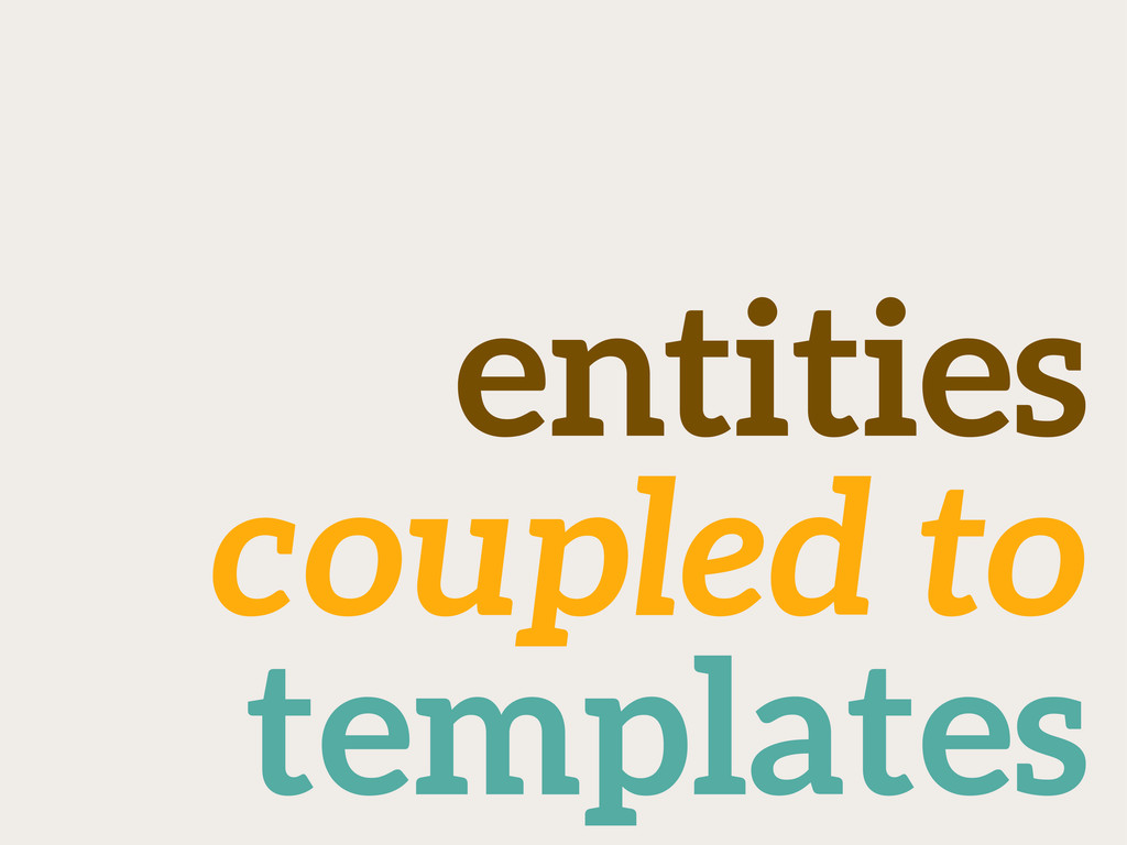 entities coupled to templates