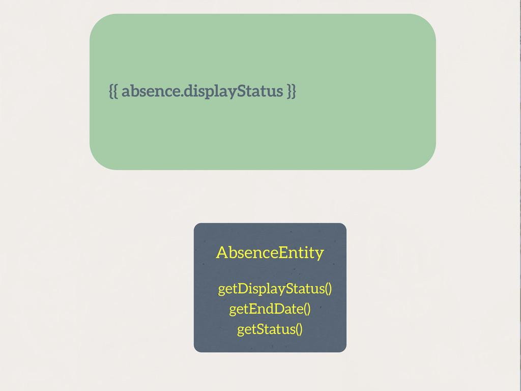getDisplayStatus() AbsenceEntity getEndDate() g...