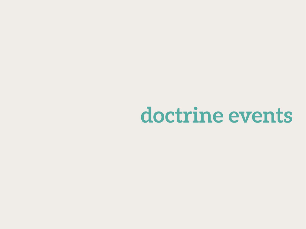 doctrine events