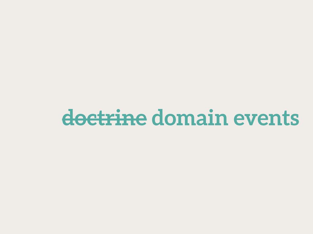 doctrine domain events