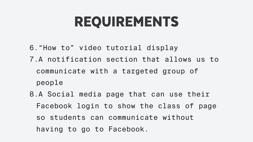 """REQUIREMENTS 6.""""How to"""" video tutorial display ..."""