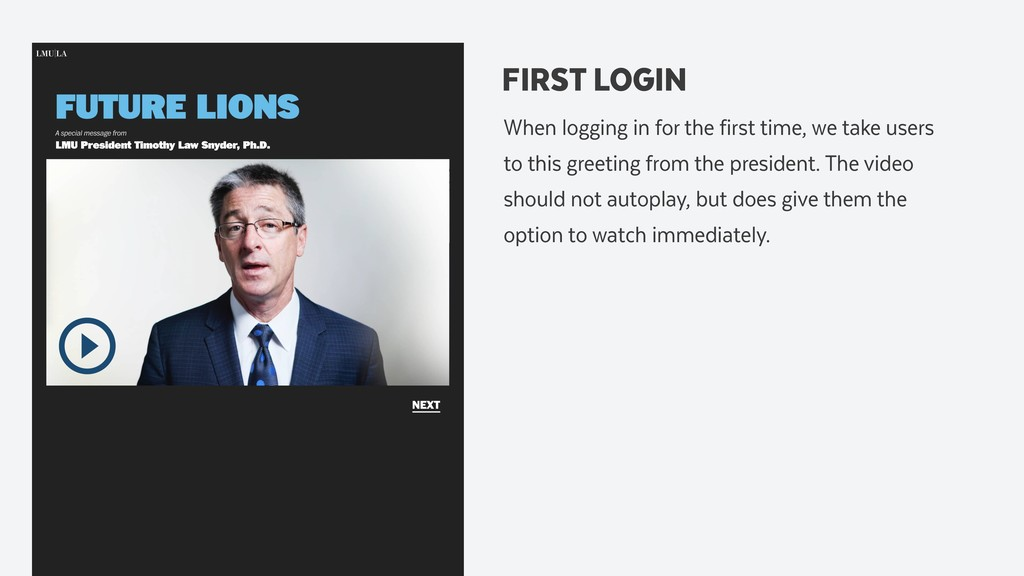 FIRST LOGIN When logging in for the first time,...