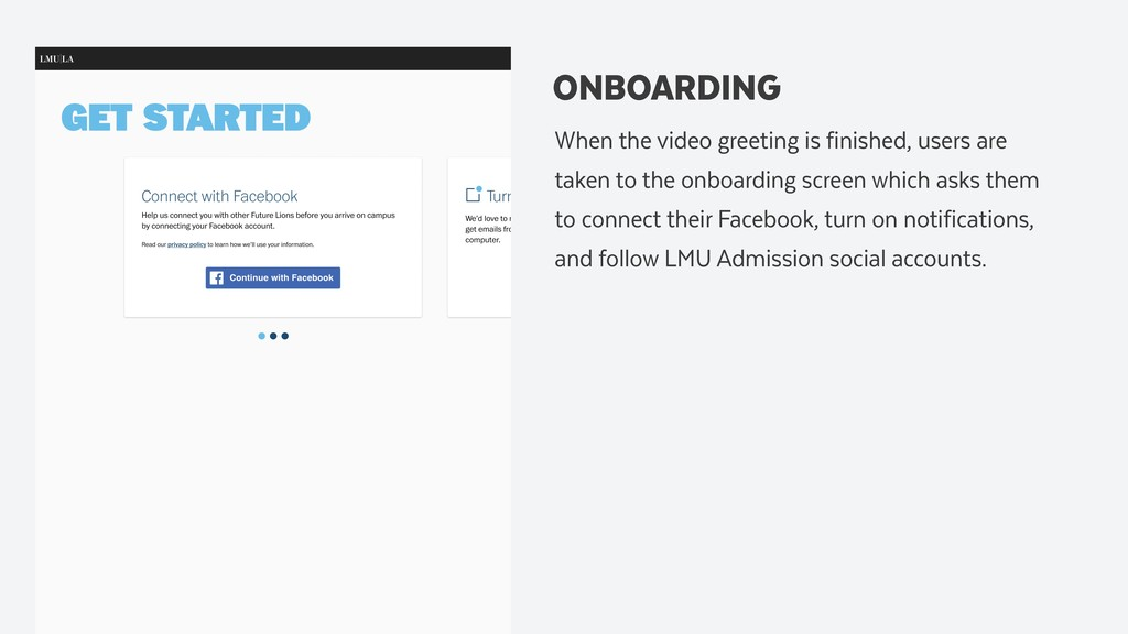 ONBOARDING When the video greeting is finished,...