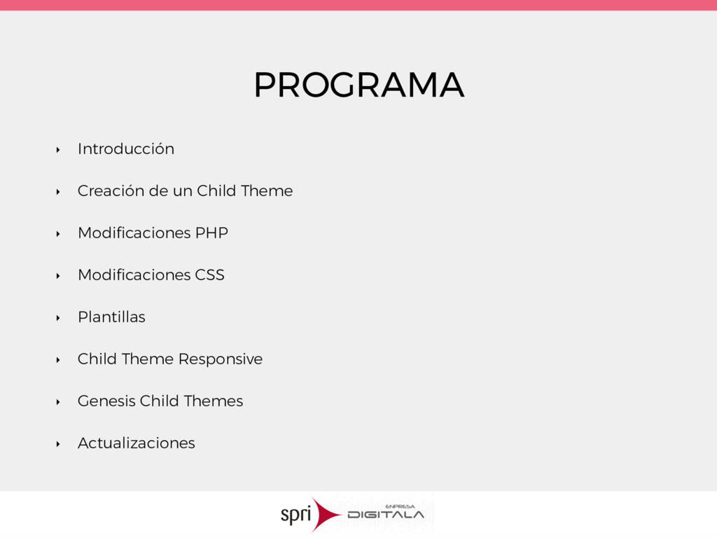 PROGRAMA ‣ Introducción ‣ Creación de un Child ...