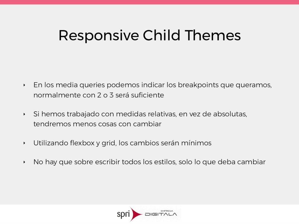 Responsive Child Themes ‣ En los media queries ...