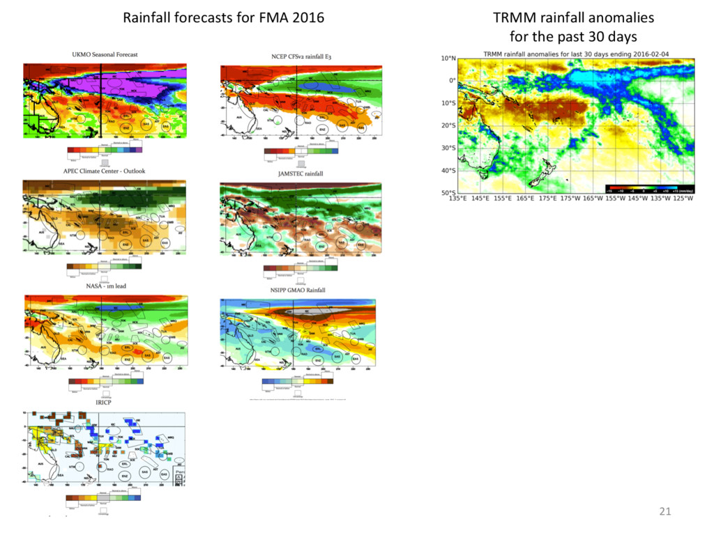 5/02/16 21 TRMM rainfall anomalies for the past...