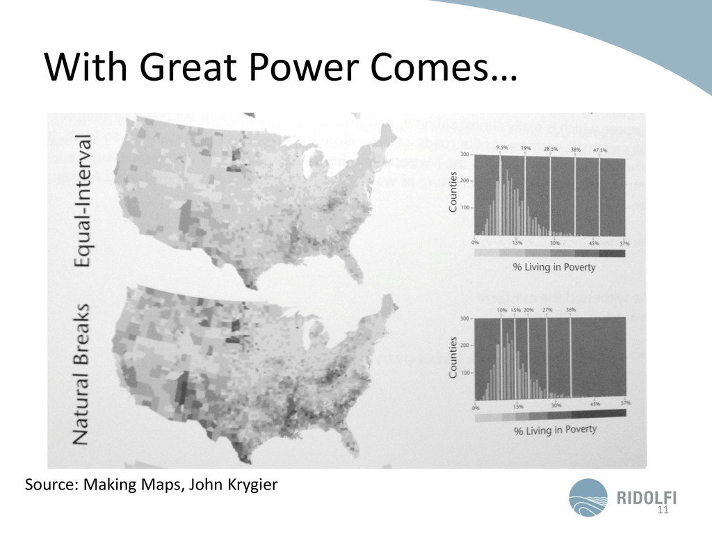 With Great Power Comes… 11 Source: Making Maps,...