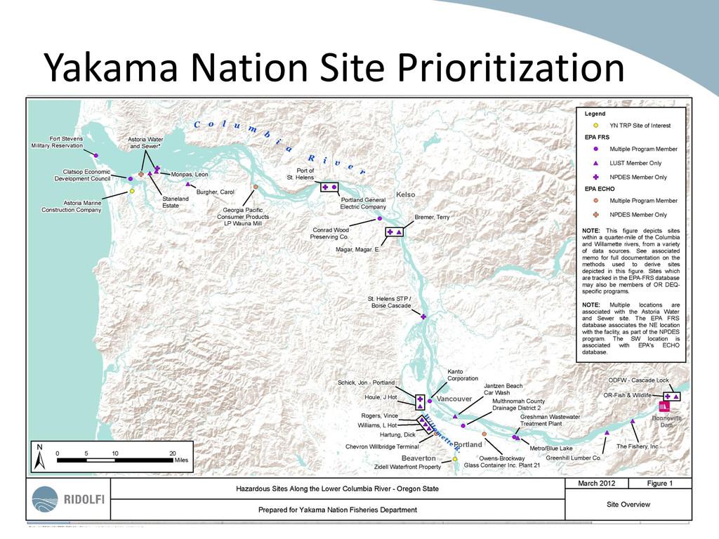 Yakama Nation Site Prioritization 16