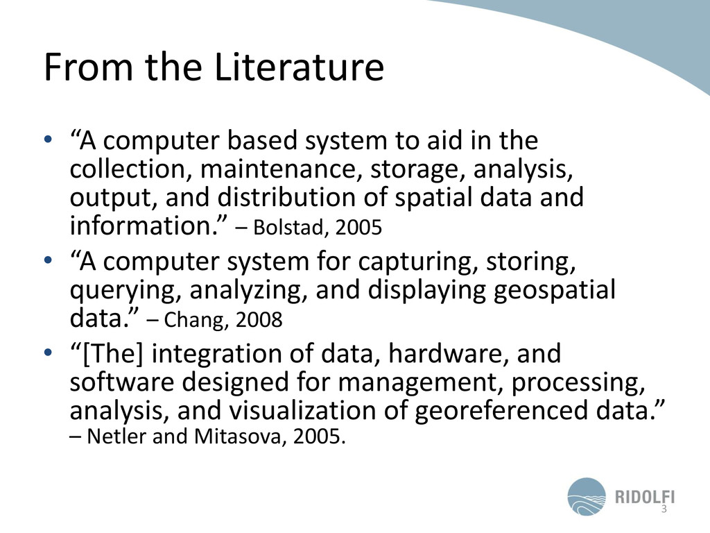 "From the Literature • ""A computer based system ..."