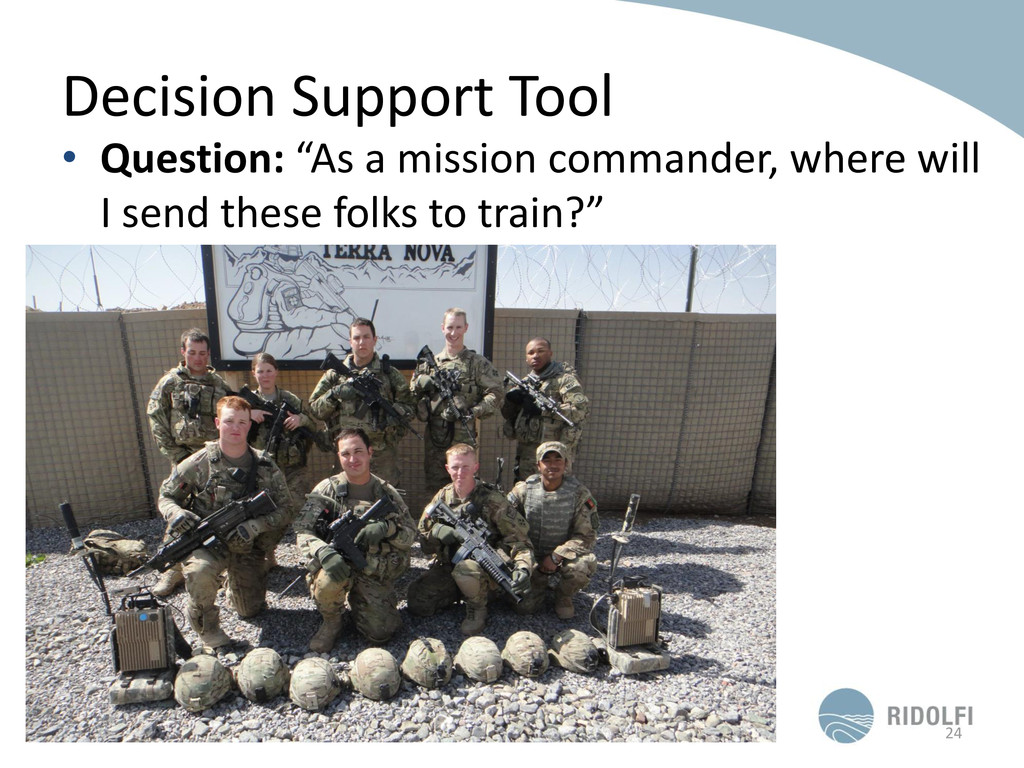 "Decision Support Tool • Question: ""As a mission..."