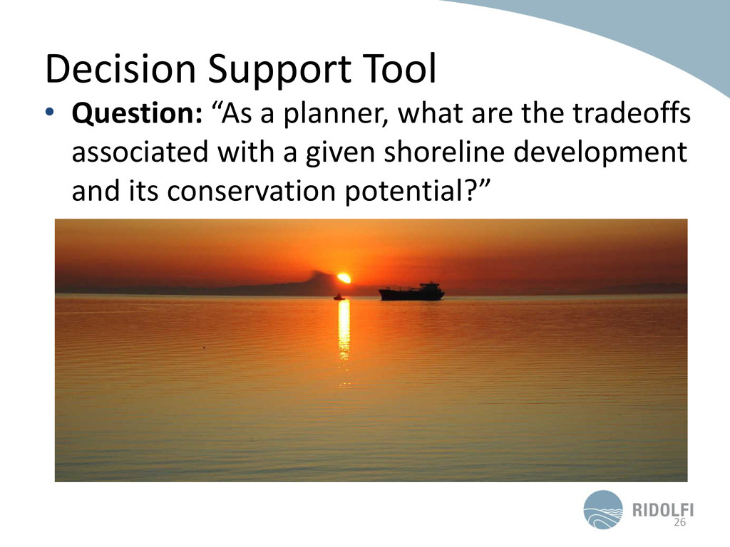"Decision Support Tool • Question: ""As a planner..."