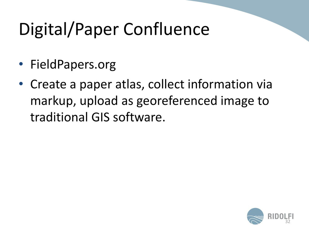 Digital/Paper Confluence • FieldPapers.org • Cr...