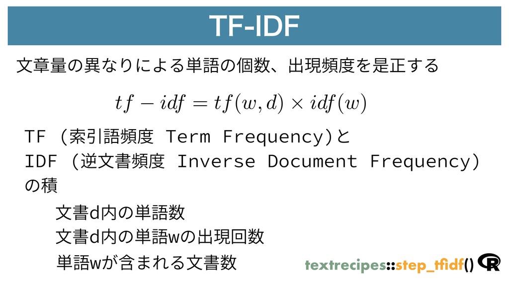 5'*%' TF (索引語頻度 Term Frequency)と IDF (逆⽂書頻度 In...