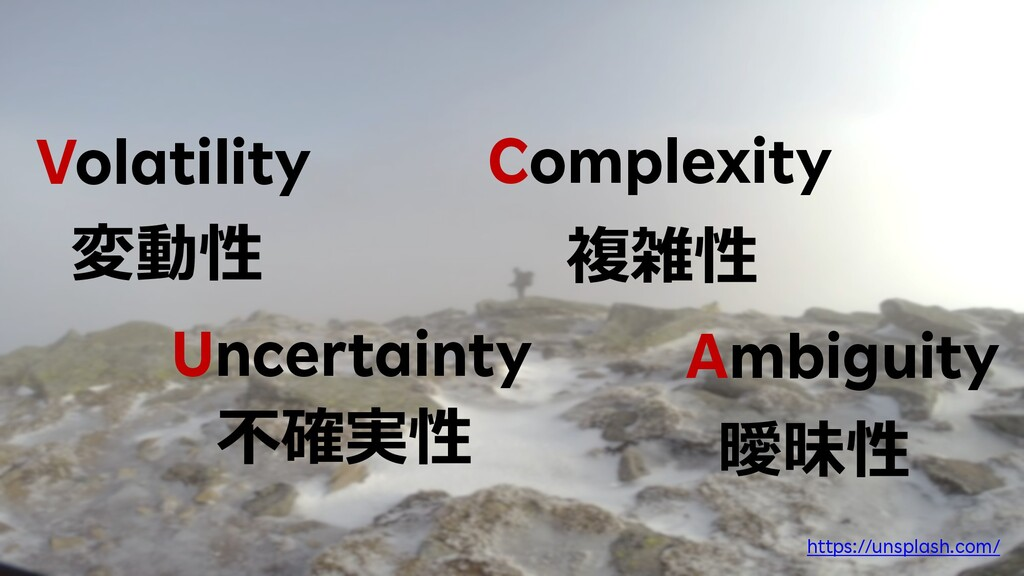 14 Volatility 変動性 Uncertainty 不確実性 Complexity 複...