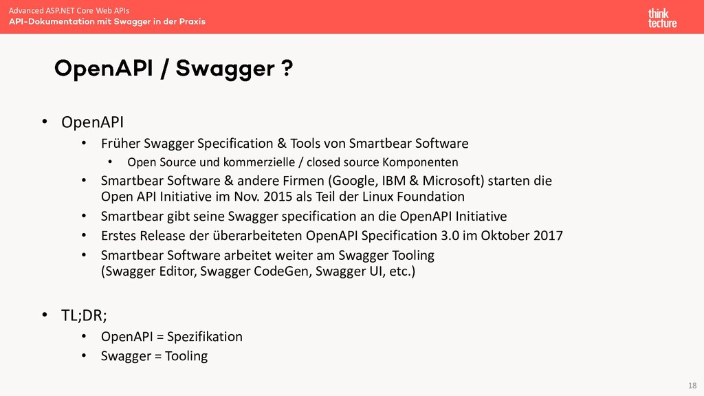 18 • OpenAPI • Früher Swagger Specification & T...