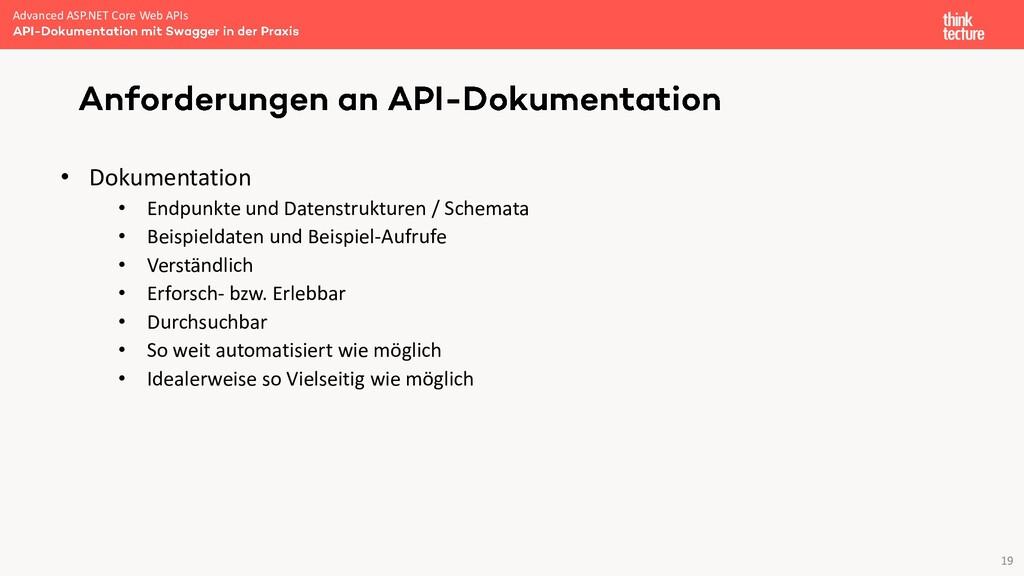 19 • Dokumentation • Endpunkte und Datenstruktu...